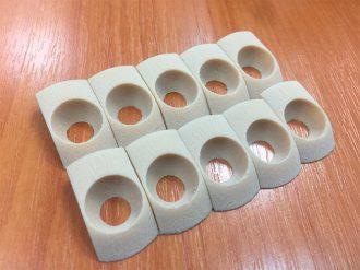Детали из белой резины